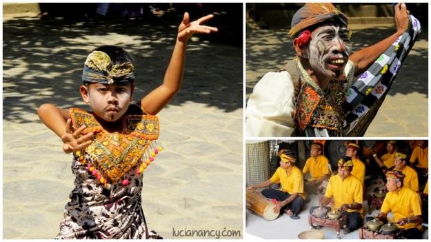 Tarian khas Lombok mempunyai pengaruh yang besar dari Jawa dan Bali.