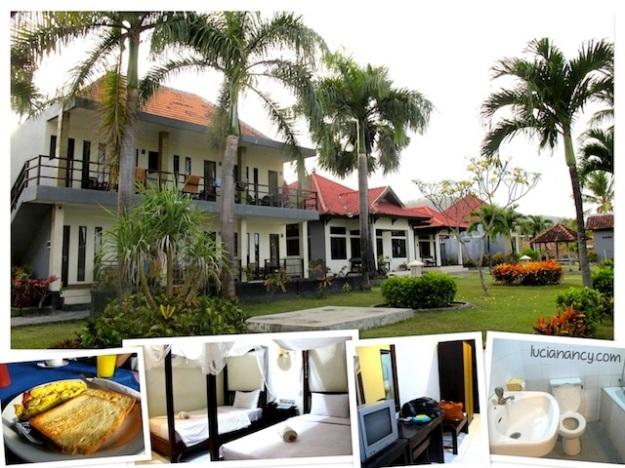 Kondisi kamar dan lingkungan sekitar Hotel Amangati, Kabupaten Dompu, Pulau Sumbawa.