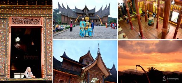 Di dalam istana, pengunjung bisa menyewa satu set pakaian adat ala Minang.