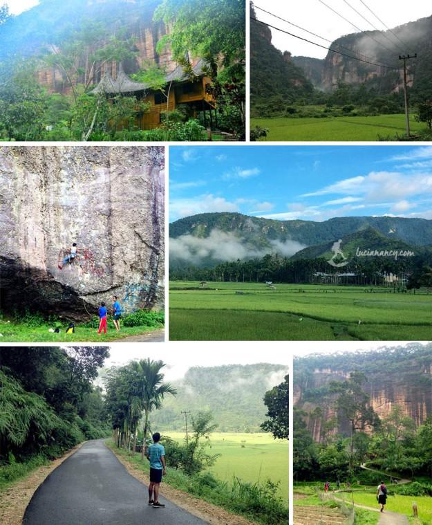 Jogging pagi di Lembah Harau. *cuma sempet foto-foto dengan kamera handphone saking leyeh-leyehnya selama di Harau*